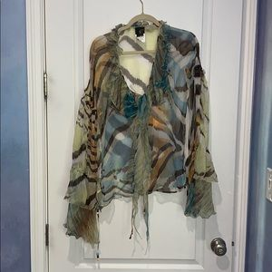 JUST CAVALLI SILK BLOUSE SIZE 44